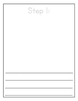 FREE Writer's Workshop How-To Writing Graphic Organizer