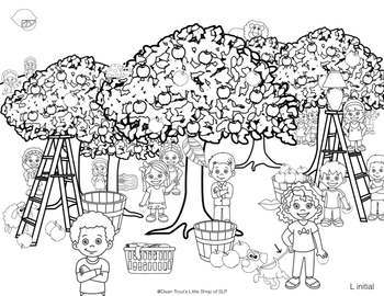 FREE Autumn Theme Articulation Activity for Speech Therapy