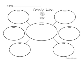 FREEBIE ~ Details Web Graphic Organizer by Learn with Mrs