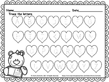 FREE DOWNLOAD : February Alphabet (Trace the Letters) by