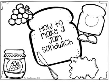FREEBIE How to Make a Jam Sandwich Grades 1-2 by The Cozy