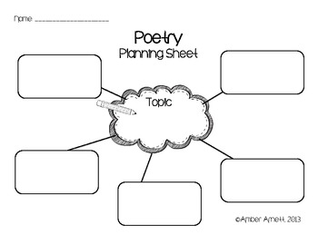 {FREEBIE} Poetry Planning Printables- Graphic Organizers
