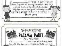 FREEBIE Polar Express Pajama Party Invite by Khrys Greco   TpT