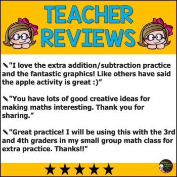 3rd Grade Math for September- FREEBIE by Believe to