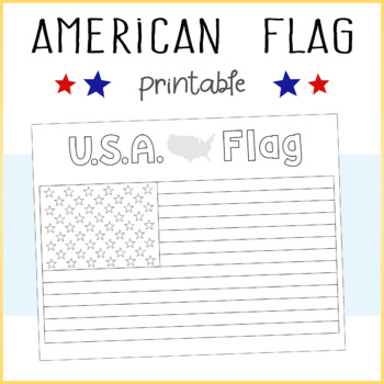 Freebie Usa American Flag Printable Coloring Sheet By Surri Digital