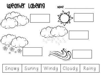 FREEBIE Weather Labeling by Shakin it up with Mrs Shannon