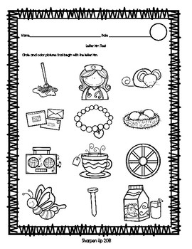 FREEBIE Week 4 Reading Wonders Letter Mm Test with Answer