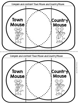 Fables-Town Mouse and Country Mouse Worksheets by Teacher