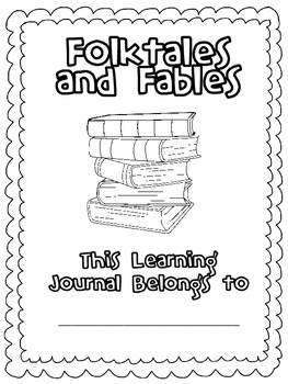 Fables and Folktales Learning Journal- Booklet and Digital