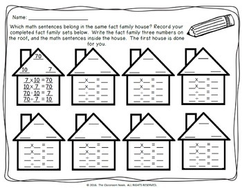 Go Fish: Fact Family {Multiplication and Division} by The