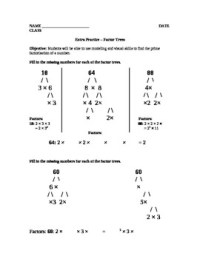 Factor Trees Worksheet by Square Root Lessons | Teachers ...