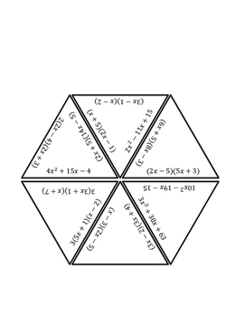 Factoring Polynomials Triangle Puzzle by All Access Pass