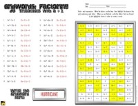 "Factoring Polynomials ""GridWords"" #5: Trinomials (with a ..."