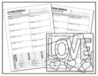 factoring trinomials coloring activity love answer key