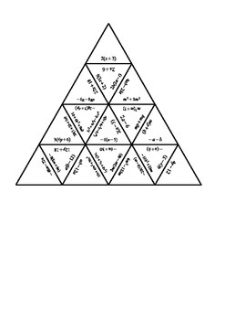 Factorising/Expanding Brackets Tarsia Puzzle by Laura
