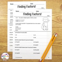 Finding Factors Worksheets - 4.OA.4 by Teacher Gameroom | TpT
