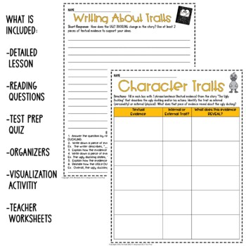 Fairy Tale Reading Comprehension Questions The Ugly