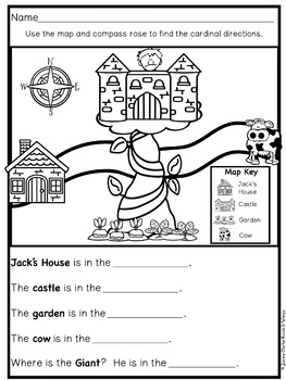 Fairy Tale Story Maps: Jack and the Beanstalk (story