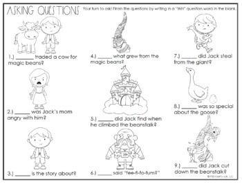 Fairy Tale WH Questions by Speech Therapy with Courtney