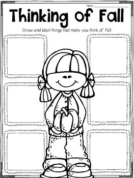 Fall Writing Printables, Activities, and Flipbooks by