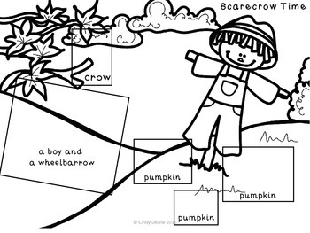Fall Cut and Paste Language Development Printables by The