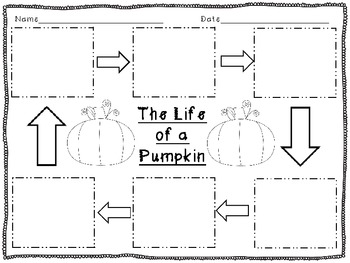 Fall Freebie: Life Cycle of a Pumpkin & Apple Graphic