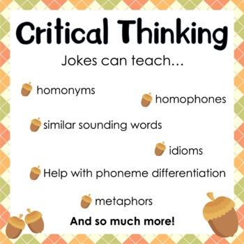 Fall Jokes and Acorns Bulletin Board Set by Classroom 214