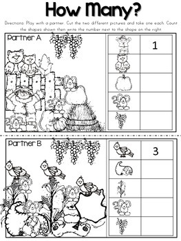 Fall Math Printables & Games No Prep {First Grade} by Sea