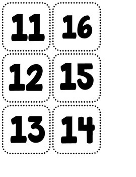 Fall Number Match Up File Folder Game (Numbers 10-20) by