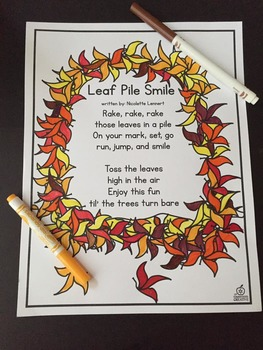 Fall Poem Of The Week By The Classroom Creative TpT