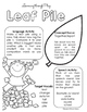 Fall Preschool Speech and Language Packet: Learning