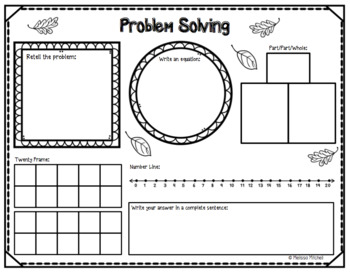 Fall Themed Addition and Subtraction Word Problems First