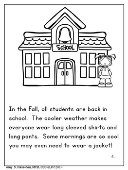 Fall Speech Therapy Original Story Comprehension