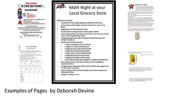 Family Math Night at Your Local Grocery Store by Deborah