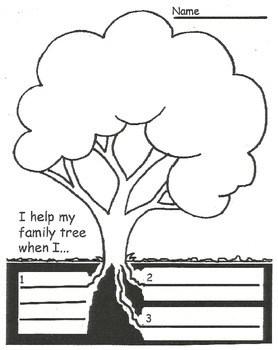 Family Tree Apple Activity: I help my family tree when I