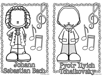 Famous Composers Coloring & Review Mini-Books by Cori