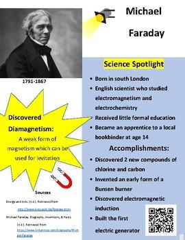 Michael Faraday Teaching Resources Teachers Pay Teachers