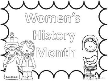 Famous Women's History Month COLORING PAGES and