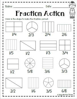 Fractions Book *SECOND GRADE VERSION* Includes Sixths and