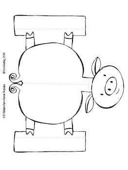 Farm Animal 3-D Foldable Templates, Old MacDonald Song