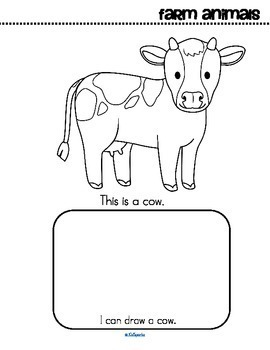 Farm Animals Activity Printables for Preschool, Read Color