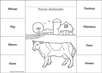 Farm Animals Activity: Interactive Notebook Foldable