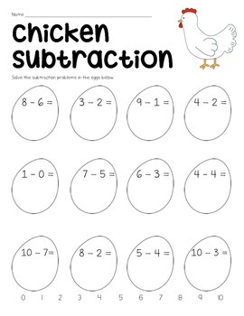 Farm Subtraction Worksheets {Freebie} by The Twenty