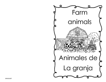 Farm animals mini book / Mini libro sobre los animales de