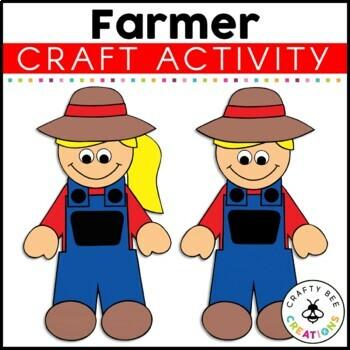 Even little kids can help make the. Farmer Craft Farm Animal Crafts Farm Activities Old Macdonald Had A Farm