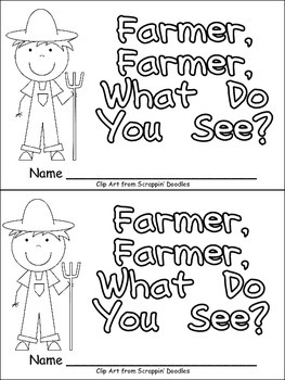 Farmer, Farmer, What Do You See Emergent Reader for