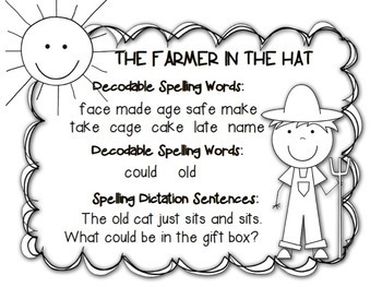 Reading Street, THE FARMER IN THE HAT, Teacher Pack by Ms