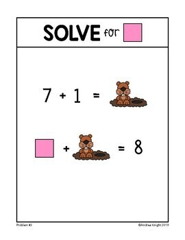 Math Warm-Ups for February (Problem-Solving Equations) by