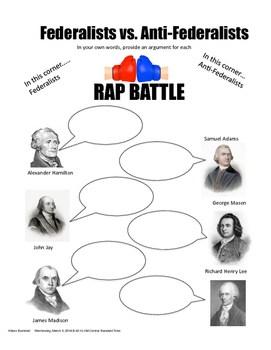 Federalists vs. Anti-Federalists RAP BATTLE by B's History