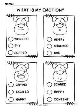 Feelings and emotions ESL- Task cards, worksheets and